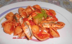 Conchiglie con Alici e Finocchietto Selvatico
