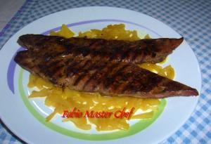 Fegato Arrostito su Letto di Cipolle in Agrodolce al Curry