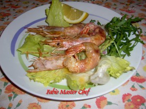 Gamberoni con Pancetta Affumicata