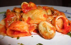 Calamarata con Fave Fresche e Cuore di Carciofi