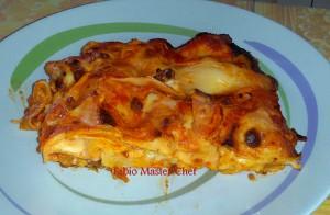 Lasagne con Mozzarella, Besciamella e Tritato
