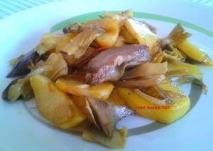 Carciofi con Patate e Funghi