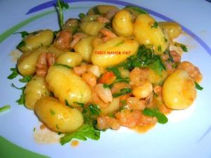 Gnocchi-con-Gamberetti-e-Rucola