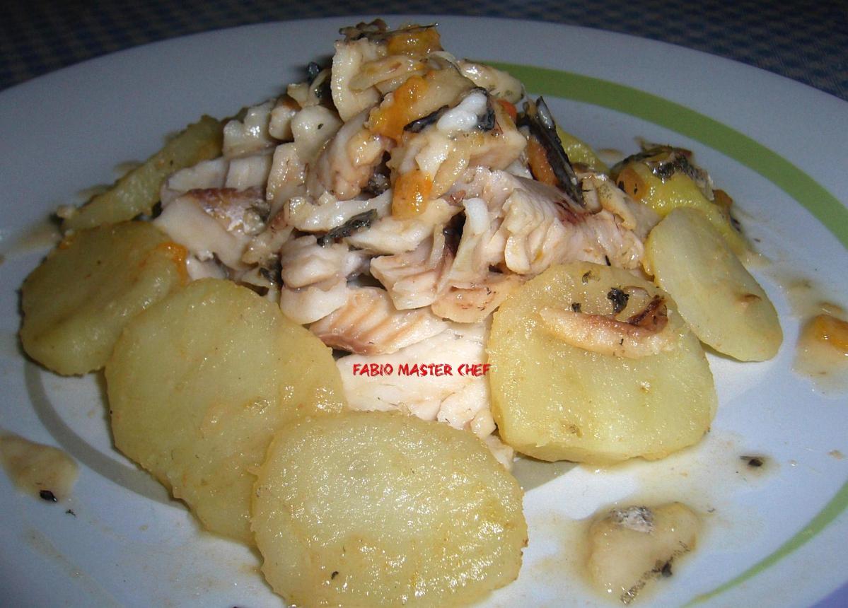 Merluzzo Spinato con Patate Lesse - Fabio Master Chef