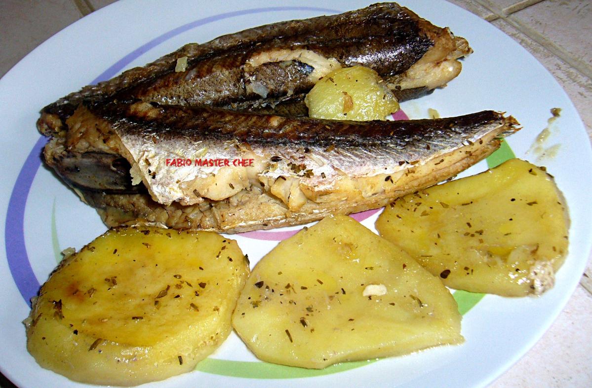 Merluzzo con patate al forno fabio master chef for Cucinare wurstel al forno