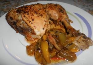 Pollo alle Spezie con Peperoni al Forno