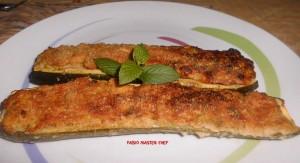 Zucchine ripiene dell'Anima Loro, Scamorza e Salsiccia Fresca e Pangrattato