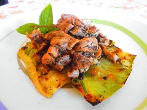Bocconcini Petto di Tacchino alle Spezie su Zucchine Arrostite