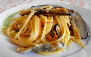 Linguine con Cannolicchi e Cozze