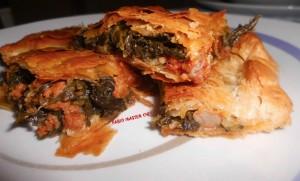 Pasta Sfoglia ripiena con Salsiccia e Cime di Rapa