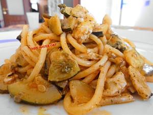 Spaghetti con Zucchine, Zafferano e Tocchetti di Parmigiano_Fotor