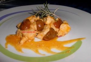 Petto di Pollo con Olive e Crema di Zaffera