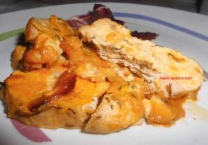 Petto di Pollo con Crema di Peperoni Gialli