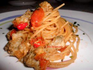 Spaghetti Integrali con Carciofi e Peperoni_Fotor