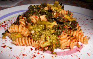 Fusilli Integrale con Broccoli Neri e Pepe Rosso a Scaglie